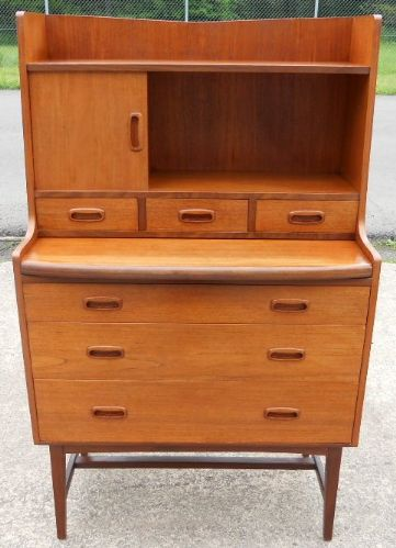 1960's Retro Teak Writing Bureau Desk by Times Furnishing - SOLD